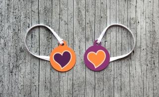 2er Set Anhänger HerzDUO2 Glücksbringer Oktoberfest Schlüsselanhänger Valentinstag