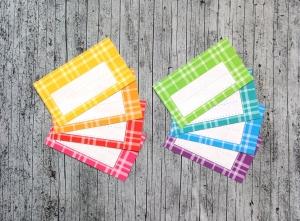 Einmachetiketten **Regenbogen3** von ZWEIFARBIG 16 Stück gummiertes Papier Aufkleber Sticker Etiketten Dekoration Marmeladenetiketten - Handarbeit kaufen