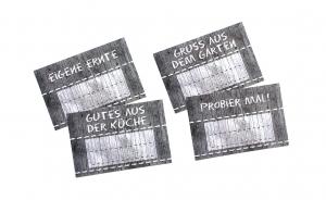 SALE -15% Etiketten Natur3 16 Stück gummiertes Papier Aufkleber Sticker