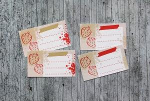 Etiketten verklexxt1 14 Stück gummiertes Papier Aufkleber Sticker