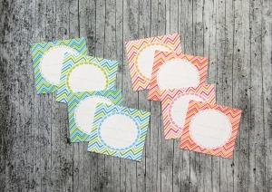 Einmachetiketten **ZickZack** von ZWEIFARBIG 16 Stück gummiertes Papier Etiketten Dekoration Aufkleber Sticker Marmeladenetikett - Handarbeit kaufen