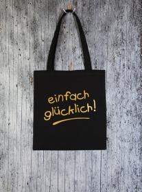 Stofftasche Glück von ZWEIFARBIG Einkaufsbeutel Geburtstag Baumwolltasche Geschenk Shopper Einkaufstasche Stoffbeutel