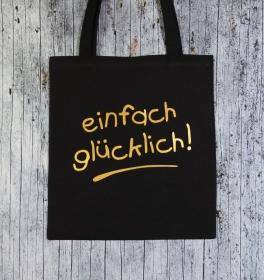 Stofftasche Glück von ZWEIFARBIG Gold Einkaufsbeutel Geburtstag Baumwolltasche Geschenk Shopper Einkaufstasche Stoffbeutel - Handarbeit kaufen