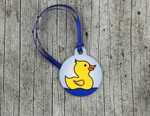 Anhänger **Quirin Quack** von ZWEIFARBIG 3,2cm Glücksbringer Kindergarten Geburtstag Einschulung Schlüsselanhänger Geschenk - Handarbeit kaufen
