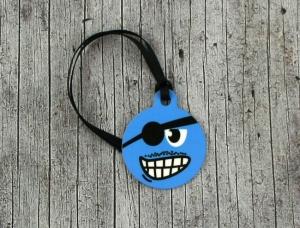 Anhänger **Käpt'n** von ZWEIFARBIG 3,2cm Glücksbringer Schlüsselanhänger Geschenk Einschulung Taschenanhänger Kindergarten Geburtstag - Handarbeit kaufen