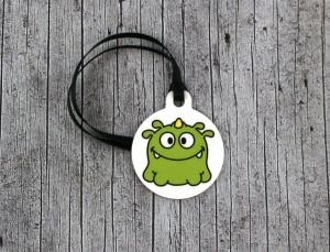 Anhänger **MonstAAA16** von ZWEIFARBIG 3,2cm Glücksbringer Schlüsselanhänger Taschenanhänger Geschenk Monster Einschulung Kindergarten Geburtstag  - Handarbeit kaufen