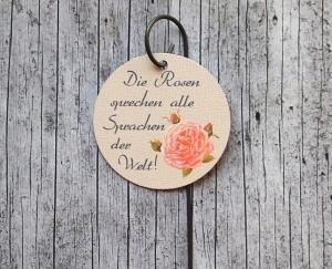 Blumenstecker **Poesie9** von ZWEIFARBIG Rose rosa Blumenschmuck Geburtstag Geschenk Valentinstag Hochzeit homedeko Dekoration - Handarbeit kaufen