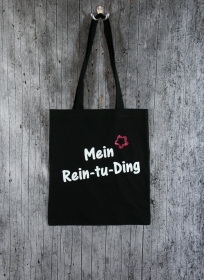 Stofftasche Ding von ZWEIFARBIG Einkaufsbeutel Shopper Baumwolltasche Stoffbeutel Geburtstag Geschenk Einkaufstasche