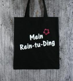 Stofftasche Ding von ZWEIFARBIG Einkaufsbeutel Shopper Baumwolltasche Stoffbeutel Geburtstag Geschenk Einkaufstasche  - Handarbeit kaufen