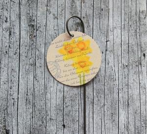 Blumenstecker Poesie6 von ZWEIFARBIG Narzisse Ostern Blumenschmuck Osterdeko homedeko Geschenk Dekoration Geburtstag Muttertag - Handarbeit kaufen