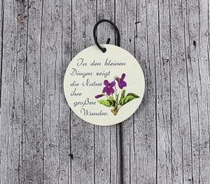 Blumenstecker Poesie12 von ZWEIFARBIG Veilchen Blumenschmuck homedeko Geschenk Ostern Dekoration Geburtstag Wohndeko Osterdeko - Handarbeit kaufen