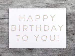 Klappkarte **Pünktchen** von ZWEIFARBIG Grußkarte Geburtstag Glückwünsche Geburtstagswünsche Geburtstagskarte - Handarbeit kaufen