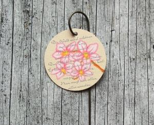 Blumenstecker Poesie7 von ZWEIFARBIG Obstblüte Ostern Dekoration Geburtstag Blumenschmuck Osterdeko homedeko Geschenk Muttertag - Handarbeit kaufen