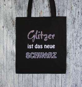 Stofftasche **Glitzer1** von ZWEIFARBIG Einkaufsbeutel Baumwolltasche Geschenk Shopper Einkaufstasche Stoffbeutel Geburtstag - Handarbeit kaufen