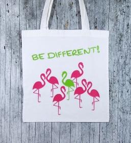 Stofftasche Flamingo von ZWEIFARBIG Einkaufsbeutel Mottoprint Baumwolltasche Shopper Geburtstag Stoffbeutel Geschenk Einkaufstasche - Handarbeit kaufen