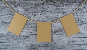 Wimpelkette **VierECK** 15er Set von ZWEIFARBIG DIY Kraftpapier Dekoration Weihnachten Geburtstag Geburt Hochzeit - Handarbeit kaufen