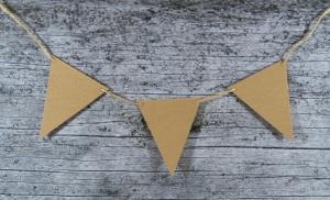 Wimpelkette **DreiECK** 15er Set von ZWEIFARBIG DIY Kraftpapier Dekoration Weihnachten Geburtstag Geburt Hochzeit - Handarbeit kaufen