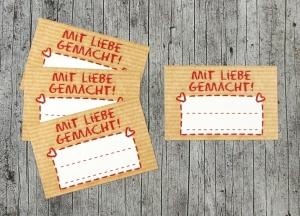 Einmachetiketten **Natur7** von ZWEIFARBIG 16 Stück gummiertes Papier Etiketten Aufkleber Sticker Kraftpapier Marmeladenetiketten Dekoration  - Handarbeit kaufen