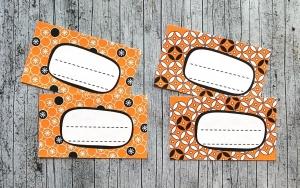 Einmachetiketten **geMustert2** von ZWEIFARBIG 16 Stück gummiertes Papier Etiketten Aufkleber Sticker Marmeladenetiketten Dekoration - Handarbeit kaufen