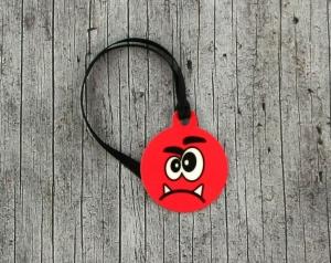 Anhänger **Herr Grummel** von ZWEIFARBIG 3,2cm Glücksbringer Schlüsselanhänger Geschenk Einschulung Taschenanhänger Kindergarten Geburtstag - Handarbeit kaufen