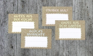 Einmachetiketten **Natur11** von ZWEIFARBIG 16 Stück gummiertes Papier Etiketten Aufkleber Sticker Marmeladenetiketten Dekoration - Handarbeit kaufen
