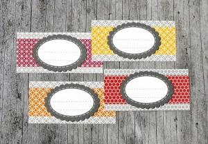 Einmachetiketten **geMustert3** von ZWEIFARBIG 12 Stück gummiertes Papier Aufkleber Marmeladenetikett Sticker Dekoration - Handarbeit kaufen