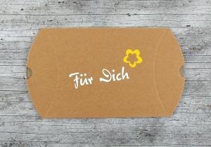 Faltschachtel **FürDich2** von ZWEIFARBIG Kraftpapier Schachtel Geschenkverpackung Geburtstag Geschenkschachtel Pillowbox Geldgeschenk Geschenkbox - Handarbeit kaufen