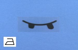 Bügelbild **BB3** von ZWEIFARBIG Applikation zum Aufbügeln auf Kleidung und Accessoires Bügelmotiv Plott Aufbügler Mottoprint Geschenk Kindergarten Schule Behelfsmaske - Handarbeit kaufen
