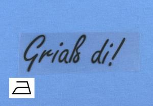 Bügelbild **BB14** von ZWEIFARBIG Applikation zum Aufbügeln auf Kleidung und Accessoires Bügelmotiv Plott Aufbügler Mottoprint Geschenk Kindergarten Schule Behelfsmaske Mundschutz  - Handarbeit kaufen