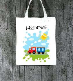 Stofftasche **TschuTschu2** von ZWEIFARBIG Einkaufsbeutel Geschenk Kindergarten Schulanfang Geburtstag Sportbeutel - Handarbeit kaufen