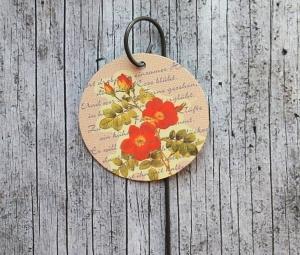 Blumenstecker **Poesie8** von ZWEIFARBIG Rose rot Blumenschmuck Geburtstag Geschenk Tischdeko Valentinstag Hochzeit homedeko Dekoration - Handarbeit kaufen
