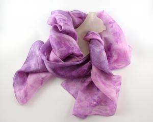 Seidenschal 180x45 cm **DUETT** Unikat von ZWEIFARBIG Halstuch Schal Accessoire handgefärbt - Handarbeit kaufen