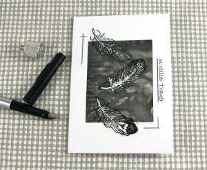 Trauerkarte TRAUER Einzelstück von ZWEIFARBIG Anteilnahme Kondolenz Beileid - Handarbeit kaufen