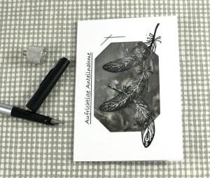 Kondolenzkarte TRAUER selbstgemachtes Einzelstück von ZWEIFARBIG zur aufrichtigen Anteilnahme Trauerkarte Beileid - Handarbeit kaufen