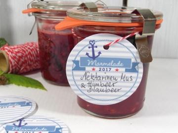 12 Marmeladen Anhänger · Etiketten für Gläser von Konftüre, Gelee
