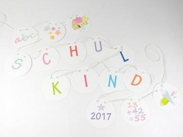 Schulanfang Girlande Schulkind Mächen & Jungen Deko 1. Schultag 2018