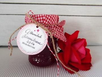 Marmeladen Anhänger · Etiketten für Gläser von Konftüre, Gelee