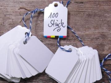 Preisschild Gastgeschenk Anhänger 100 Etiketten
