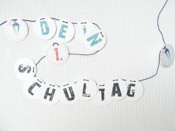 Schulanfang Girlande Mein 1. Schultag Dekoration für dein Schulkind Mädchen & Jungen