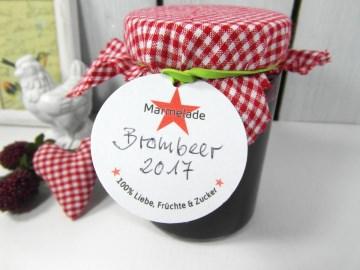 Marmeladen Anhänger · Etiketten für Gläser & Flaschen von Konftüre, Gelee, Saft