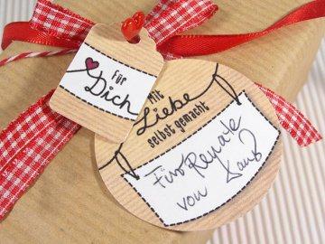 Made With Love Anhänger · Etiketten für Geschenke, Selbstgemachten, Konftüre, Gelee