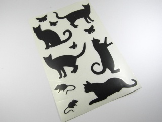 Wandtattoo Laptop Aufkleber Sticker Katze Maus