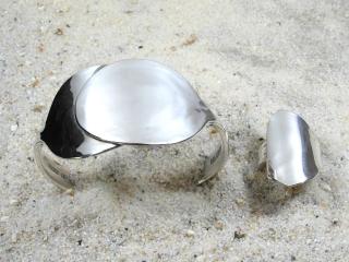 Besteckschmuck Armreif & Ring Set ★ Silberbesteck