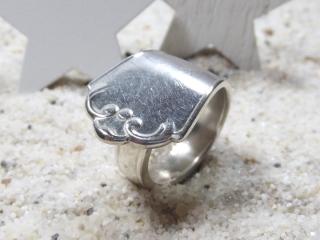 Besteckschmuck Ring Silber Tafel Besteck schlicht, Muster wie Krone