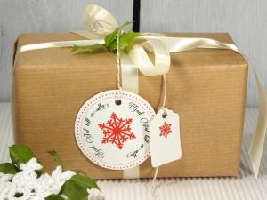 Geschenkanhänger Weihnachten Schwedisch God Jul