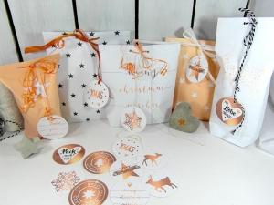 Geschenkanhänger WeihnachtenWeihnachtsanhänger 14 Stk Kupferfarben mit Sprüche