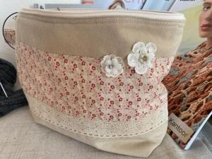 Handarbeitstasche Tilda Nature - Projekttasche - Stricktasche