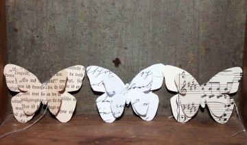 VINTAGE Geschenkanhänger Schmetterlinge OSTERDEKO Papieranhänger Schmetterling kaufen