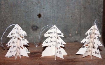 3-er Set Vintage Geschenkanhänger Tannenbaum Baumschmuck Papieranhänger Weihnachtsdeko kaufen