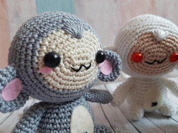 Gehäkeltes Amigurumi Affe aus Baumwolle wähle deine Lieblingsfarbe! - Handarbeit kaufen